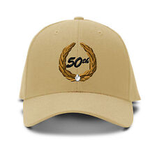 50Th Years Anniversary Embroidery Embroidered Adjustable Hat Baseball Cap