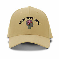 Your Text Here Custom Neurology Embroidered Adjustable Hat Baseball Cap