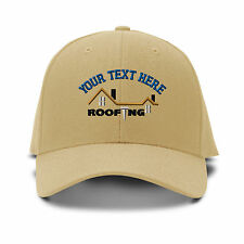 Your Text Here Custom Roofing Embroidered Adjustable Hat Baseball Cap