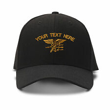 Custom Name Navy Seal Logo Embroidery Embroidered Adjustable Hat Baseball Cap
