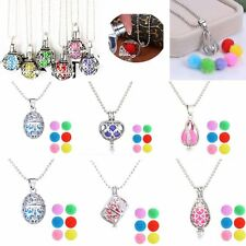 CharmTeardrop Locket Essential Oil Aromatherapy Diffuser Pendant Necklace Womens