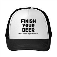 Finish Your Beer There Are Sober People In India Adjustable Trucker Hat Cap
