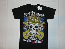 DEF LEPPARD SKULL CROWN NEW T-SHIRT S M L XL 2XL METAL GLAM ROCK KINGS UK CROSS
