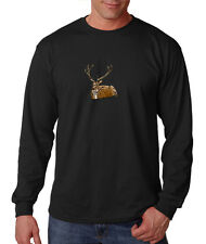 Deer Animal Pets Long Sleeve Cotton T-Shirt Tee Shirt