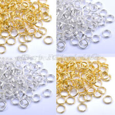Silver Gold Open Double Loop Jump Split Jump Rings Connectors Findings 4-14mm