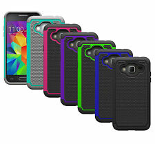 For Samsung Galaxy Express Prime Case Hybrid Armor Dual Layer Protective Cover