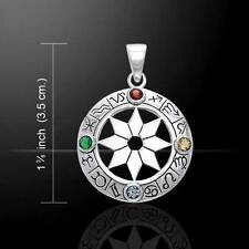 Zodiac Astrological Signs stunning sterling Silver Pendant