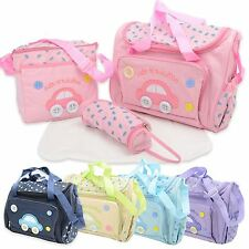 Cute as a button 4pcs Baby Changing Nappy Diaper Bag Set includes changing mat