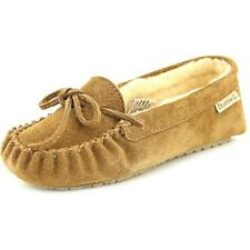 Bearpaw Astrid Women  Round Toe Suede Brown Slipper NWOB