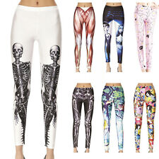 Sexy Leggings Pencil Skinny Pants Womens Colorful Pattern Print Stretch Pants