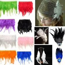 30cm Rooster Hackle Feather Fringe Craft Sewing Costume Millinery Trim Material