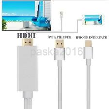 Output 1080P Converter HDTV HDMI AV Cable Adapter Cord for iPhone 5 6 Plus Audio