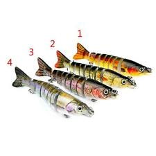 Multi-section Fishing Lure Hard Swimbait Bass Bait Treble Hook Tackle