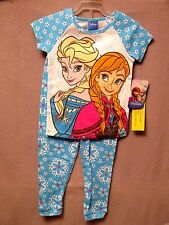 Disney Girls Pajama Set Frozen Anna & Elsa 2 Piece Assorted Sizes & Pattern BNWT