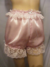 SISSY ADULT BABY PINK SATIN DIAPER COVER PANTIES WATERPROOF OPTION FANCY DRESS