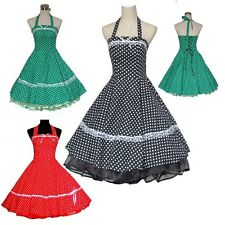50s 60s Swing Robe Vintage Dress Pinup Polka Dot Swing Party Rockabilly Dresses