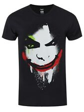 DC Comics Batman Arkham City Halloween The Joker Face Men's Black T-shirt