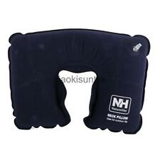 3 Colors Inflatable Pillow Travel Pillow Flocked Fabric Air Cushion