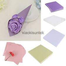 50pcs Colored Blank Paper DIY Wedding Party DIY Candy Cards Craft Cone Decor