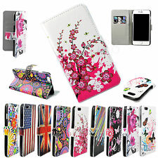 Leather Phone Stand Wallet Slots Case Cover For Apple iPhone 4 5S 6 4.7 5.5 Inch