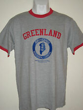 GREENLAND Football Union  fan's ringer t-shirt
