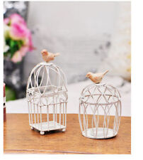 Vintage Metal Bird Cage Decor Tea Light Candle Holder Candlestick Wedding Gifts