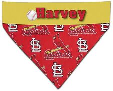 Over Collar Dog Personalized MLB Baseball St. Louis Cardinals Bandana Bandanna