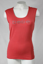 Bebe t shirt top tank logo crystals basic Red Knot 234008 DHR