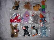 TY McDONALDS 1999 UK TEENIE BEANIES - individually or a complete set of 12