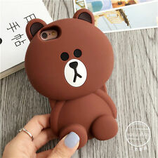 Fashion Multiple Color Lovely Brown Bear Silicone Soft Case For iPhone 6 6s Plus