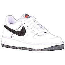 Nike Air Force 1 Low - Boys' Primary School Basketball Shoes (White/Black)