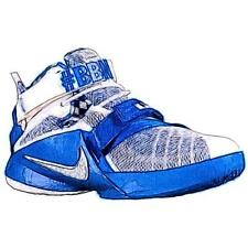 Nike Soldier IX - Boys' Primary Sch. Basketball Shoes (WT/Metallic Silver/Game
