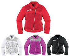 Icon All Sizes & Colors Hella 2 Textile Womens Motorcycle Riding Jacket