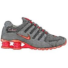 Nike Shox NZ - Women's Running Shoes (BK/Bright Mango/Bright Crimson Width:Medi