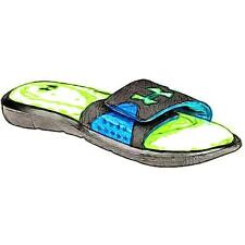 Under Armour Ignite IV Slide - Boys' Primary Sch. Casual Shoes (BK/Snorkel/Fuel