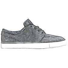 Nike SB Zoom Stefan Janoski - Men's Casual Shoes (BK/WT/BK Width:Medium)