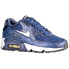 Nike Air Max 90 - Boys' Primary School Running Shoes (Midnight Navy/Black/White)