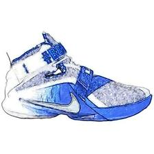 Nike Zoom Soldier 9 - Men's Basketball Shoes (WT/Metallic Silver/Game Royal Wid