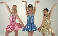 TO ORDER Funky Sequin Jazz Modern Tap Dress Dance Costume Childs