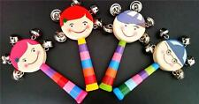 One Wooden BELL Toy Quality Kids Party Favor Novelty Musical Instrument NEW
