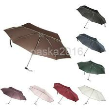 Manually Open and Close Fold Compact Water-repellent Windproof Rain Sun Umbrella