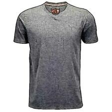 PUMA Essential Short Sleeve V-Neck Casual T-Shirt - Men's (Dark Grey Heather)