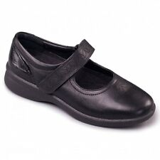 Padders SPRITE 2 Ladies Comfort Mary Jane Extra Wide Fit Shoes Black/Patent