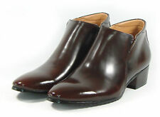 MOODA Mens Ankle Boots Leather Oxfords Dress Shoes Formal Casual Black Brown