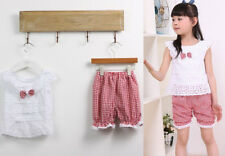 1SET Kids Baby Tops+Short Outfit Pants Toddler T-shirt Trousers Clothes Girls