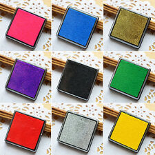9 Colors Non-Toxic Color Ink Pad Inkpad Rubber Craft Stamp Finger Print DIY 2PCS
