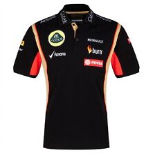 POLO SHIRT Ladies 3 Button Formula One 1 Lotus F1 Team Sponsor 2014/5 NEW US