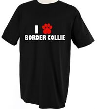 Border Collie Dog Dogs Love Pet Paw T Shirt Tee Shirt