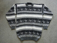 NWOT Made In Peru Alpaca Wool Blended Unisex Crew Neck Pull Over Sweater #93083