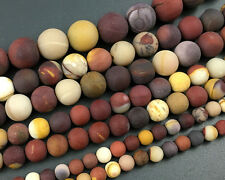 natural mookaite jasper round matte loose gemstone beads 4mm 6mm 8mm 10mm 12mm